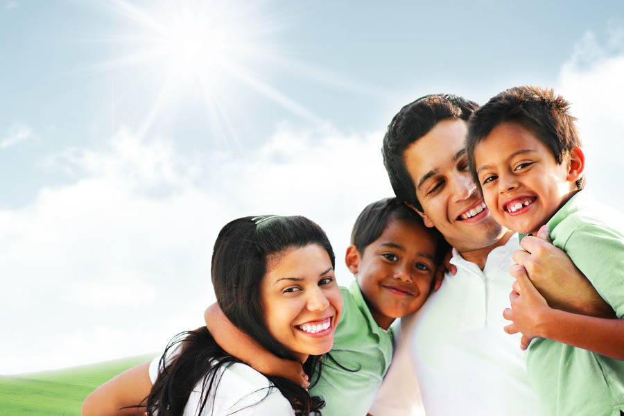Health Discount Program - Family Standing in the Sun